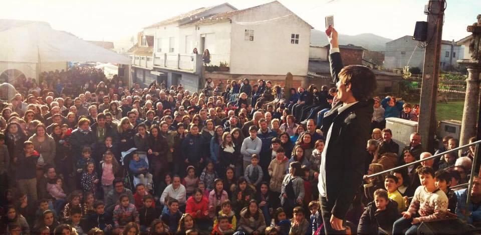 Pedro Bugarin Mago en Coruña público